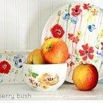 Floral Painted Ceramic Plates