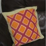 painted geometric pillows