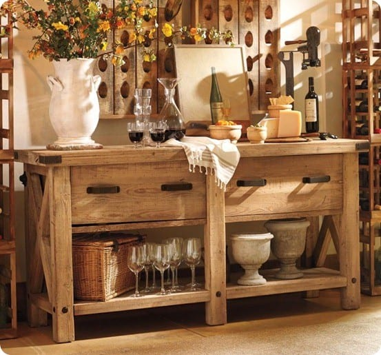 The inspiration for Hillary's rustic X furniture came from the ...