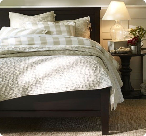 Fancy pottery barn farmhouse bed
