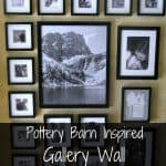 pottery barn inspired gallery wall