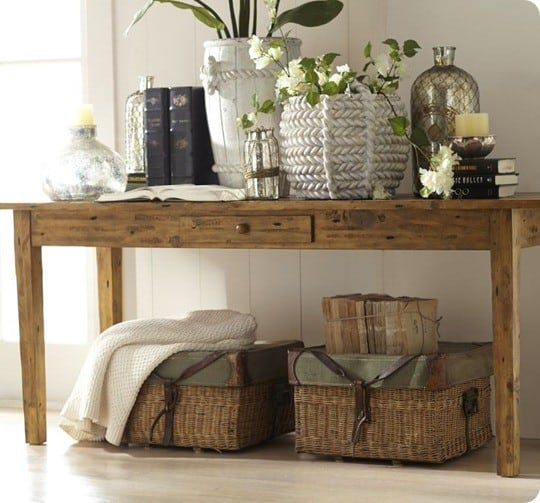 pottery barn keaton console table