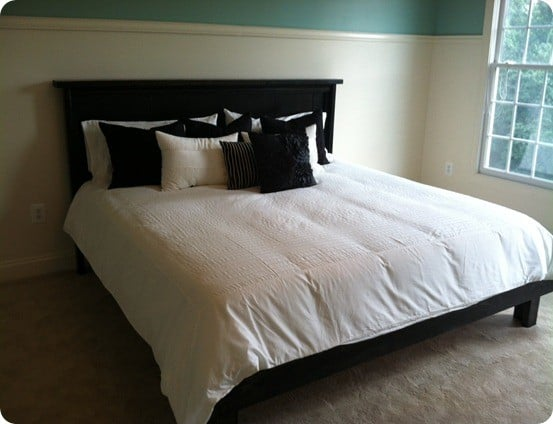 pottery barn knock off farmhouse bed