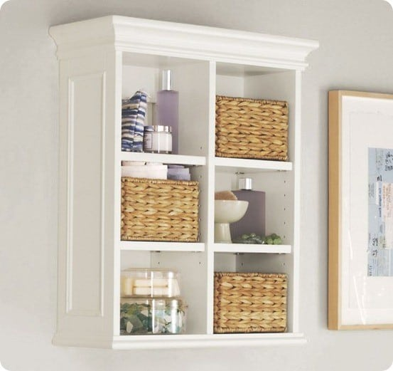 pottery barn newport wall cabinet