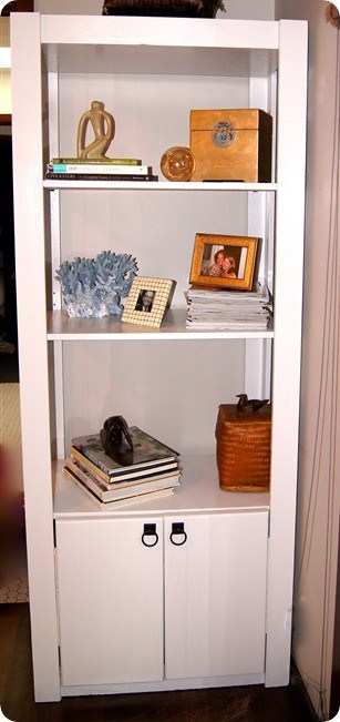 refabbed goodwill bookcase