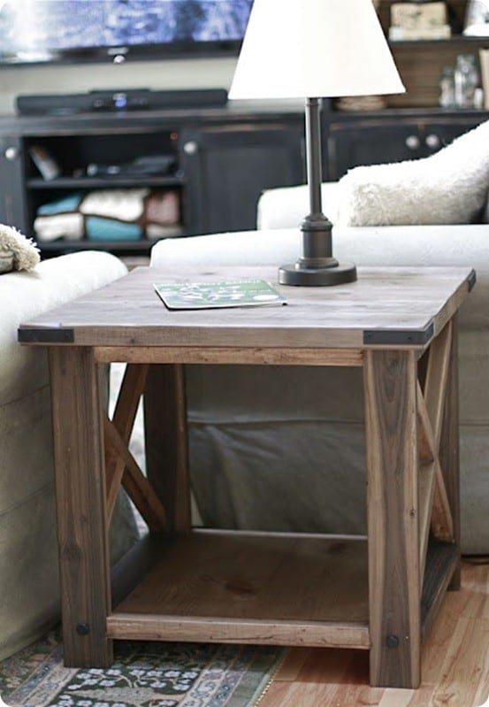 barn wood end table plans