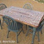 Kitchen Table with Inlay Stencil
