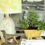 Ceramic Flower Lamp