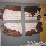 Wood Panel Wall Map
