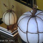 DIY Pumpkins with Grapevine
