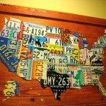 DIY us map from license plates