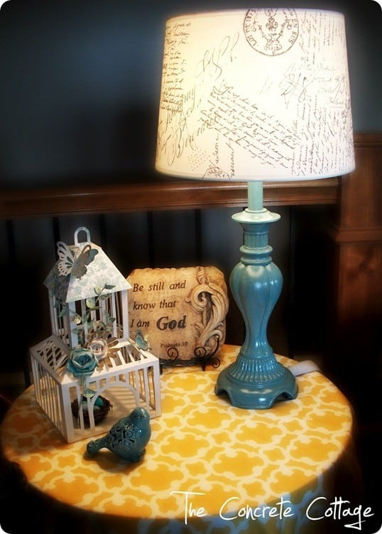 French script lampshade