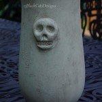 Halloween Skull Vase
