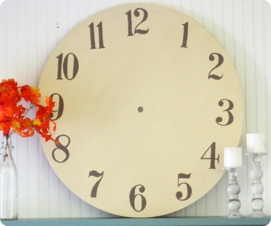 Pottery Barn Imitation Clock Face Art