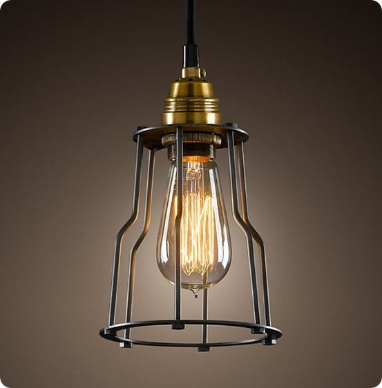 Restoration Hardware's Cage Filament Pendant light