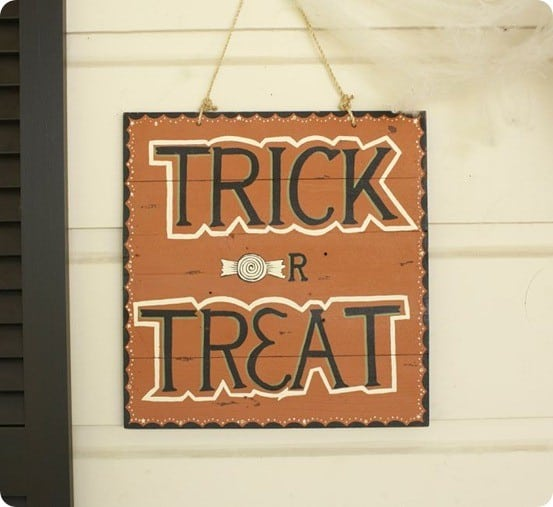 Trick Or Treat Plaque