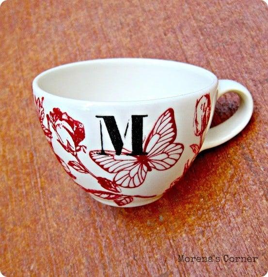 anthro inspired painted mug
