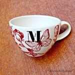 Painted Mug with Monogram
