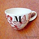 Painted Mug with Monogram