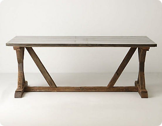 anthro modern farmhouse table