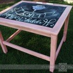 Chalkboard Floor Desk