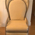 Upholstered Burlap Chair
