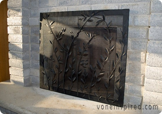 Decorative fireplace screen Decorative fireplace screens