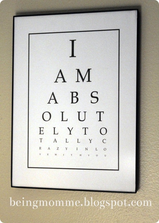 diy eye chart art