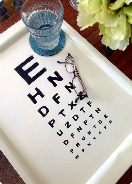 diy eye chart tray