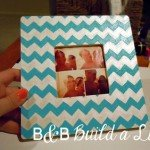diy painted chevron frame
