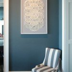 diy paper and linen wall art