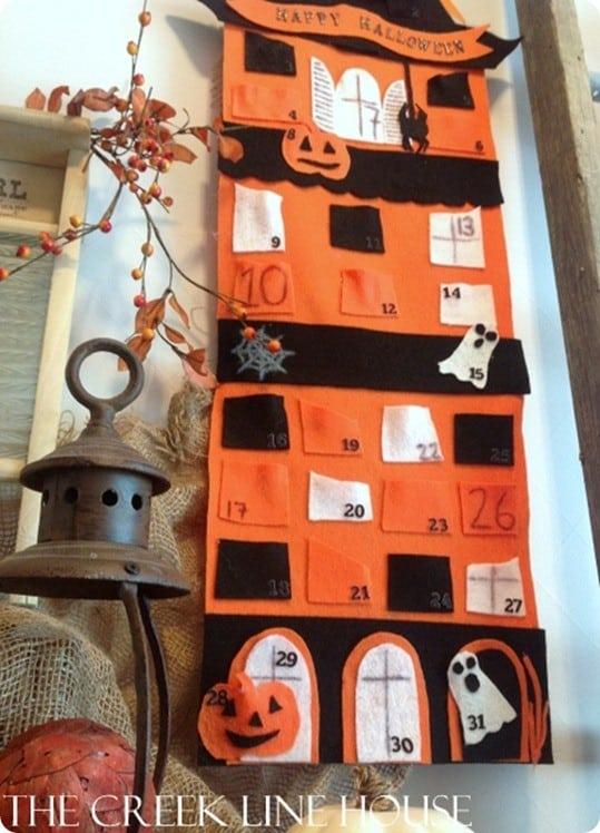 halloween felt calendar