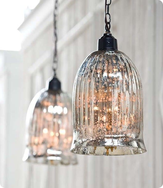 Mercury Glass Chandelier Shades Home Decor