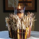 Indian Corn Candle Holder