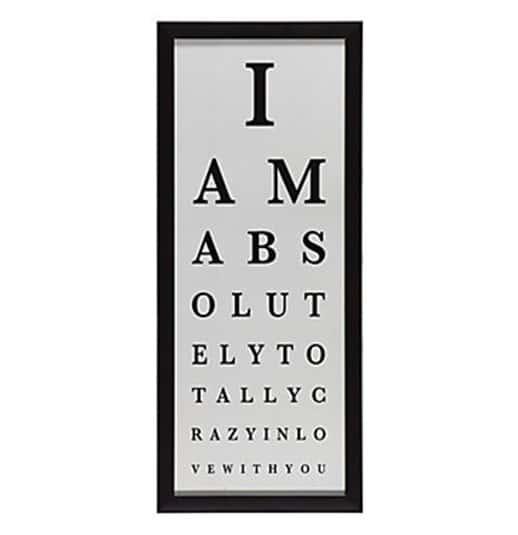 love eye chart
