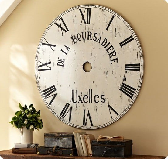 oversized painted clock face