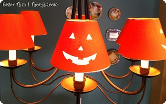 Jack o lantern chandelier shade covers paper jackolantern chandelier shades aloadofball Choice Image
