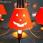 Jack-O-Lantern Chandelier Shade Covers