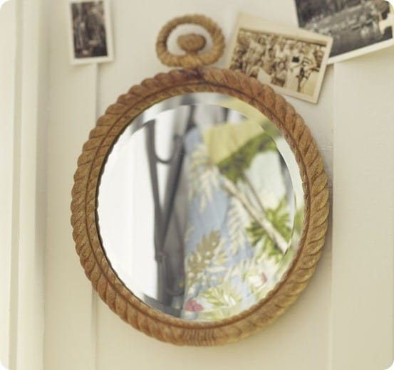 pb carved rope mirror