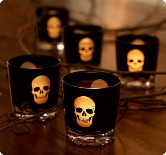 pb skull votive cup