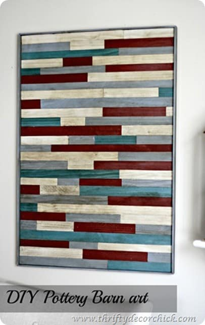pottery barn inspired wood wall art