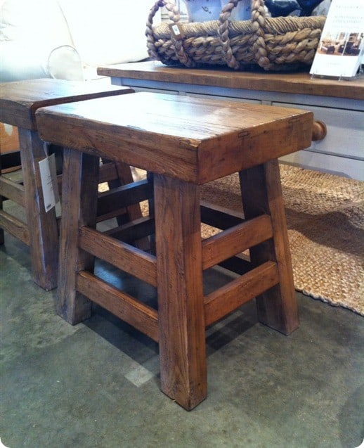 pottery barn stool