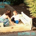 Wooden Bench Sandbox