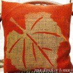 Burlap Leaf Pillow