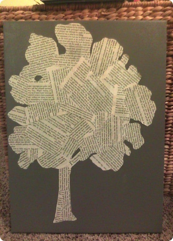 Book Page Tree Art Knockoffdecor Com