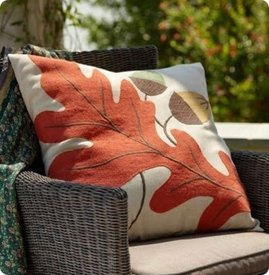 wisteria oak leaf pillow
