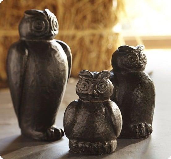 MINI BRONZE OWLS