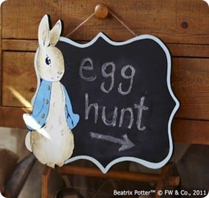 Peter Rabbit Chalkboard Sign