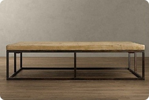 Reclaimed French Floorboard coffee table from Restoration Hardware