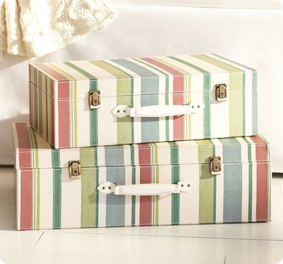 Striped Decorative Luggage